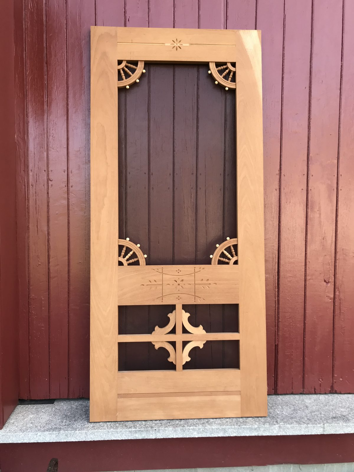Eastlake Mahogany Screen Door